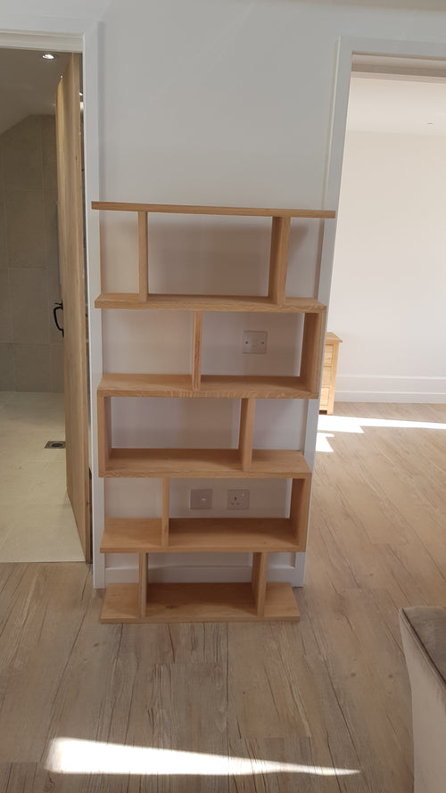 White Oak small display unit in light white Oak finish
