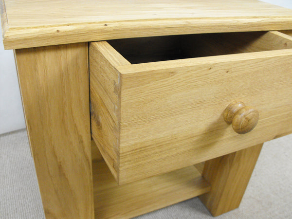 Lamp table with drawer 500 x 500, ideal for the, living room, lounge or conservatory.