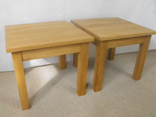 Lamp or occasional table set 450 x 450, ideal for the, living room, lounge or bedroom.
