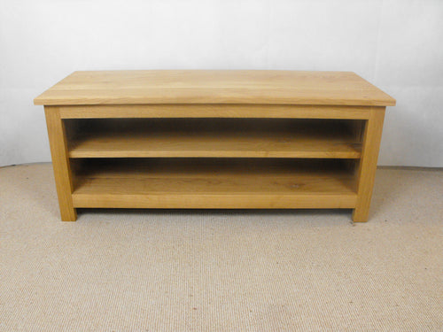 Low height 1200mm Solid Oak TV Unit, Cabinet , Stand or Hifi unit