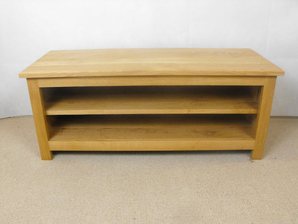 Low height 1000mm Solid Oak TV Unit, Cabinet , Stand or Hifi unit