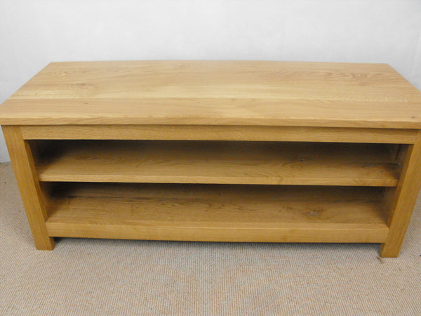 Low height 800mm Solid Oak TV Unit, Cabinet , Stand or Hifi unit