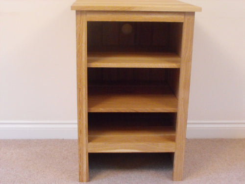 Rustic Range - HiFi Unit, cabinet or stand 580mm in Solid Oak