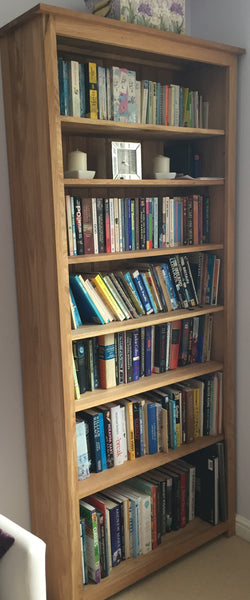 Oak 800x1800 Bookcase or CD/DVD Media storage, ideal for the study, living room or lounge