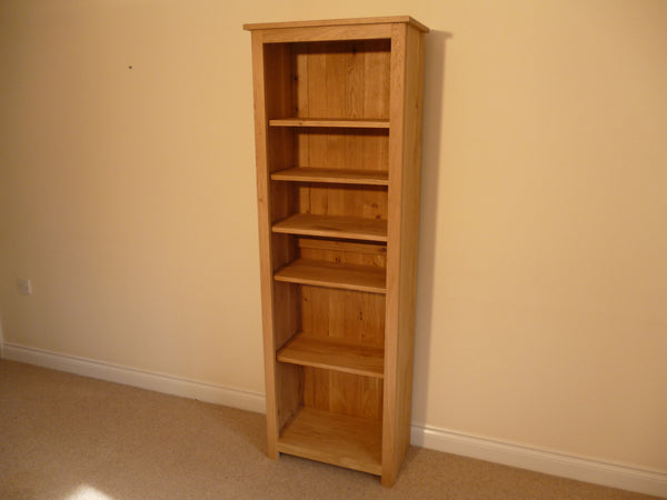 Oak 600x1800 Bookcase or CD/DVD Media storage, ideal for the study, living room or lounge