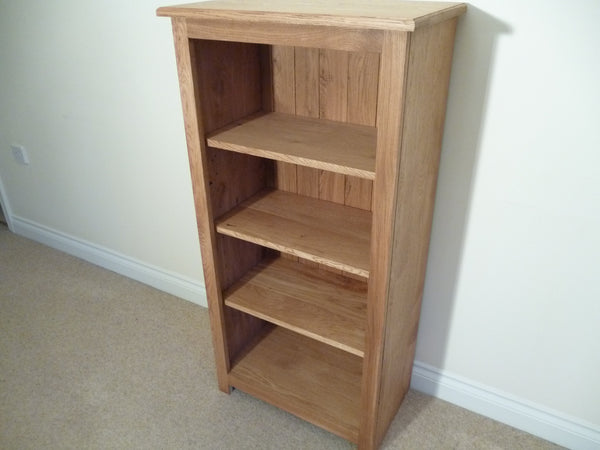 Oak 600x1000 Bookcase or CD/DVD Media storage, ideal for the study, living room or lounge