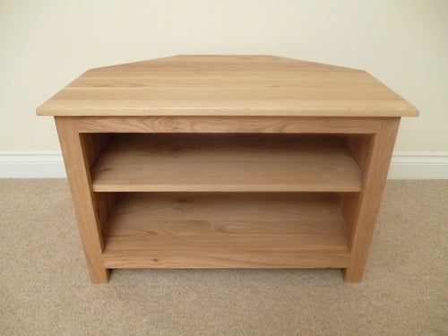 Rustic Range - Corner 750mm wide Solid Oak TV Unit, Cabinet , Stand or Hifi unit