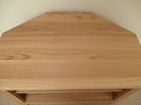 Corner 1000mm wide Solid Oak TV Unit, Cabinet , Stand or Hifi unit