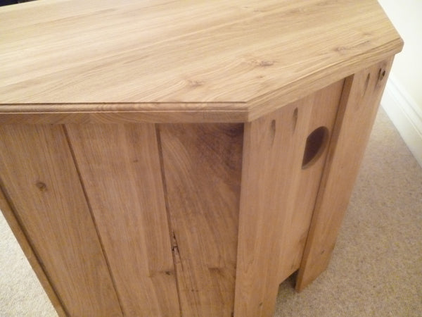 Corner 1000mm wide Solid Pine TV Unit, Cabinet , Stand or Hifi unit
