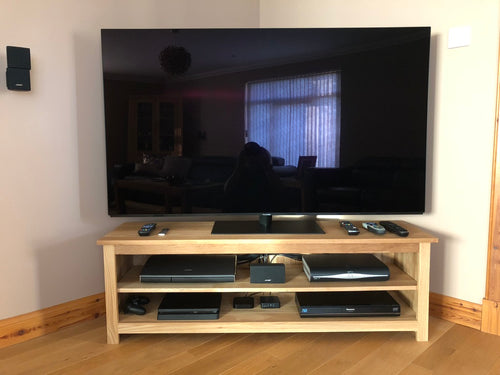 Large 1100mm Solid Oak TV Unit, Cabinet , Stand or Hifi unit