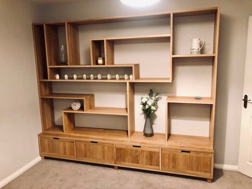 Exclusive range display unit with bottom cupboards ideal for the, living room or lounge
