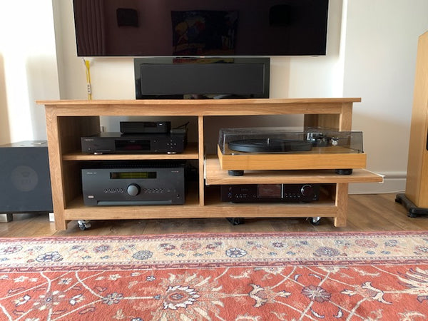 1000mm Solid Oak TV Unit, Cabinet , Stand or Hifi unit