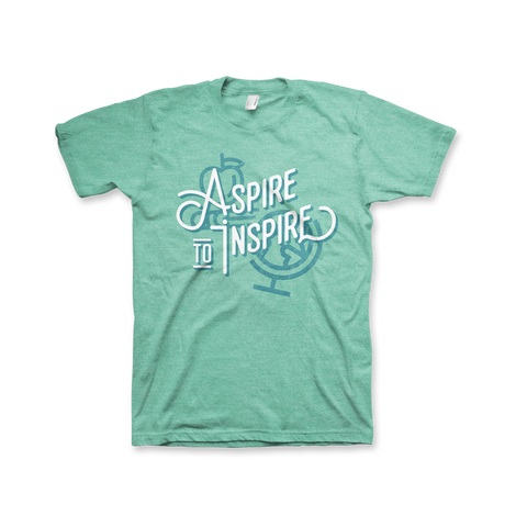 Aspire to Inspire T-Shirt (Unisex) Heather Mint
