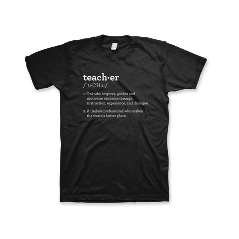 Definition of a Teacher T-Shirt (Unisex) Black