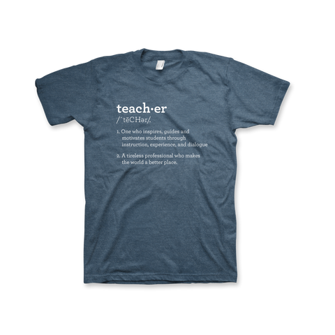 Definition of a Teacher T-Shirt (Unisex) Heather Deep Teal