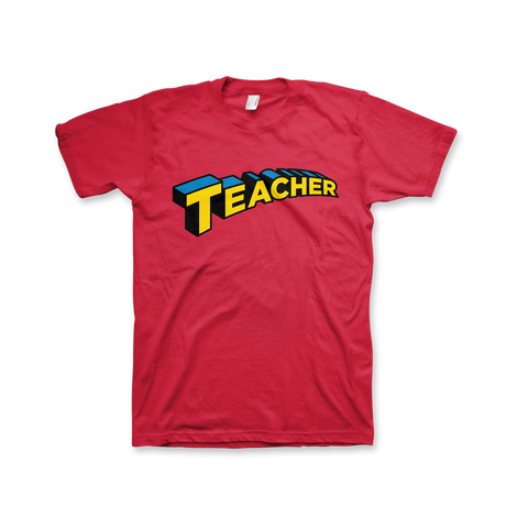 Super Teacher T-Shirt (Unisex) Red