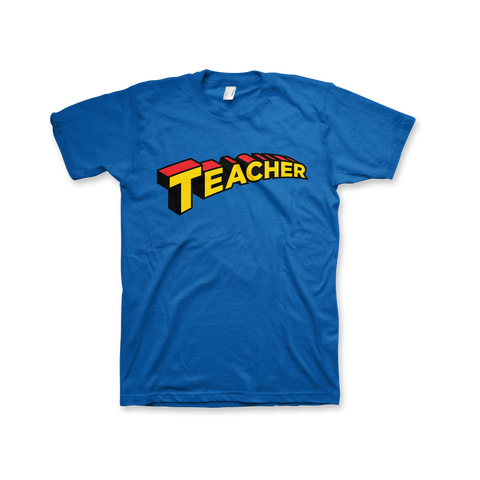 Super Teacher T-Shirt (Unisex) Royal Blue