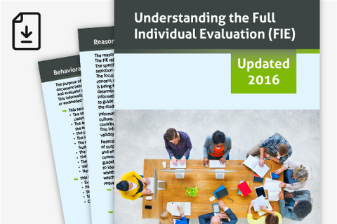 2016 Understanding the Full Individual Evaluation (Downloadable PDF)