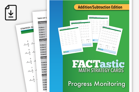 FACTastic Math Progress Monitoring: Addition/Subtraction (Downloadable PDF)
