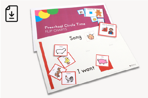 Early Childhood Circle Time Flip Charts (Downloadable PDFs)