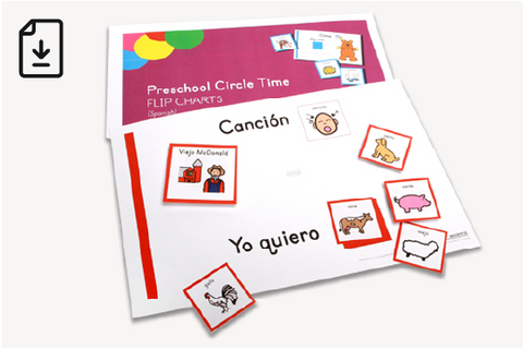 Early Childhood Circle Time Flip Charts - Spanish (Downloadable PDFs)