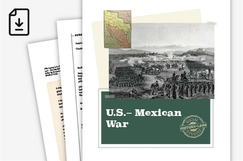 History Lab: US-Mexican War (Downloadable PDF)