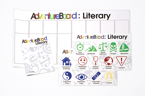 Literary Writing Adventure Boards (instructional classroom set)
