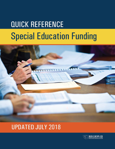 Quick Reference Special Education Funding (Paperback)