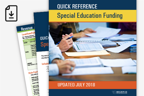 Quick Reference Special Education Funding (Downloadable PDF)