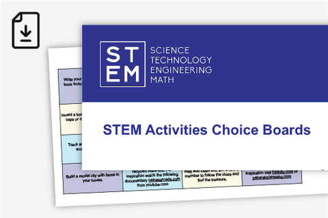 STEM Activities Choice Boards (Downloadable PDF)