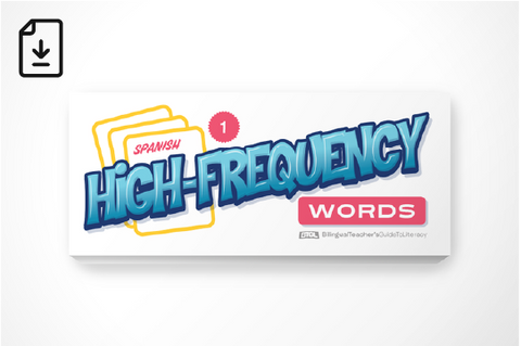 Spanish High-Frequency Words: First Grade (Downloadable PDF)
