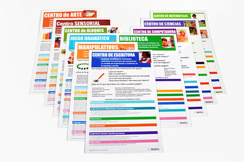 2017 Prekindergarten Alignment Posters: Spanish (Set of 10)