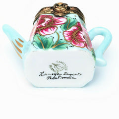 Retired Rochechauart Limoges Trinket Box, Teapot with 'Surprise' Tea Bag