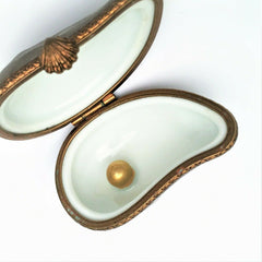 Retired Limited Edition Pierre Arquie Oyster with Pearl Limoges Trinket Box