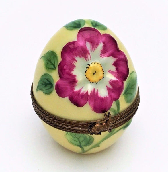 Limoges, France Porcelain Trinket Box, Wild Rose Egg Limited Edition, 300 of 300