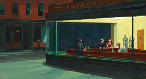 Artifact Puzzles - Edward Hopper Nighthawks Wooden Jigsaw Puzzle
