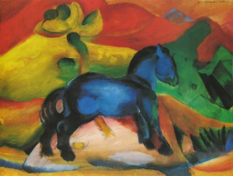 Artifact Puzzles - Franz Marc 1912 Blue Horse Wooden Jigsaw Puzzle