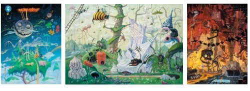 Artifact Puzzles - Joe Vaux Garden of Earthly Delights Wooden Jigsaw Puzzle