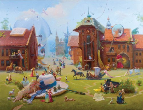 Artifact Puzzles - Rekunenko Charming Village Wooden Jigsaw Puzzle