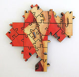 Artifact Puzzles - Tomasz Pietrzyk Red Towers Wooden Jigsaw Puzzle