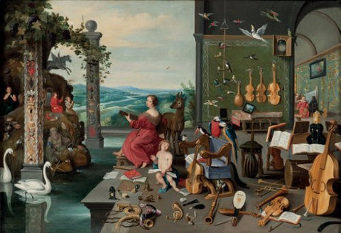 Artifact Puzzles - Brueghel Music Room Wooden Jigsaw Puzzle