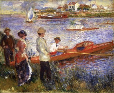 Artifact Puzzles - Renoir Oarsmen at Chatou Wooden Jigsaw Puzzle
