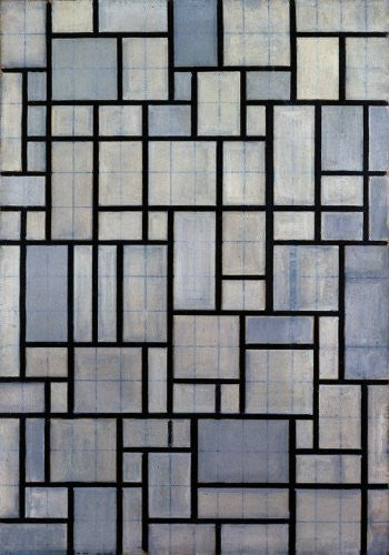 Artifact Puzzles - Piet Mondrian Wooden Jigsaw Puzzle