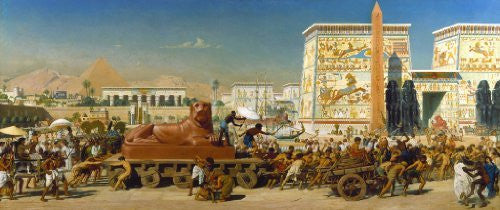 Artifact Puzzles - Poynter Israel in Egypt Wooden Jigsaw Puzzle