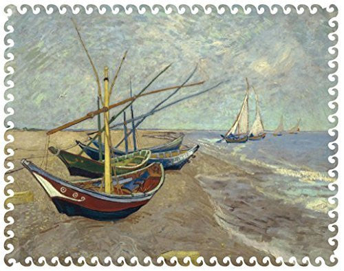 Artifact Puzzles - Van Gogh Boats Wooden Jigsaw Puzzle