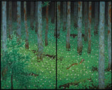 Artifact Puzzles - Bokuyo Forest Diptych Wooden Jigsaw Puzzle