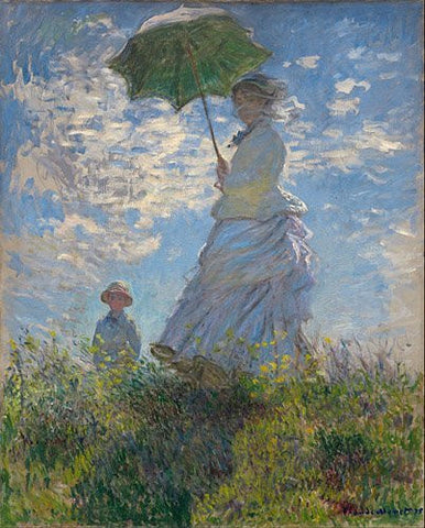 Artifact Puzzles - Monet Woman with Parasol Wooden Jigsaw Puzzle