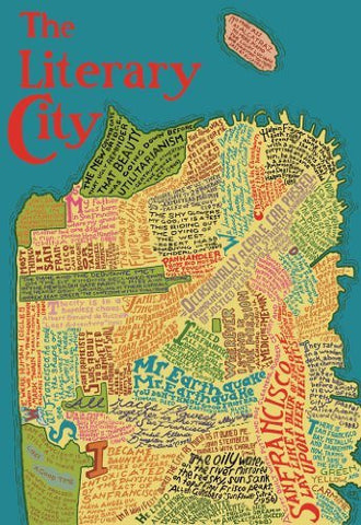 Artifact Puzzles - San Francisco Literary Map Wooden Jigsaw Puzzle