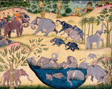 Artifact Puzzles - Bikaner Elephants Wooden Jigsaw Puzzle