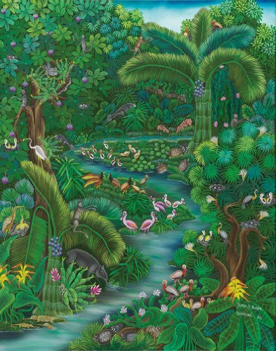 Artifact Puzzles - Jeyselle Solentiname Jungle Wooden Jigsaw Puzzle